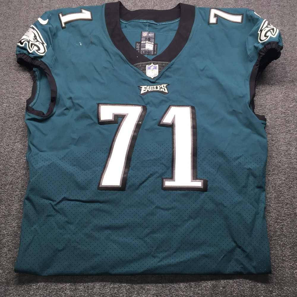 NFL Auction | Crucial Catch - Eagles Jason Peters Game Used Jersey ...