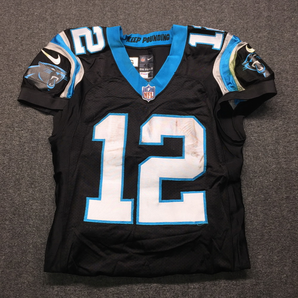 NFL Auction | STS - Panthers D.J. Moore Game Used Jersey Size 46 ...