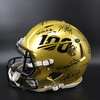 Multi Signed Gold 100 Helmet signed by members of 100 All Time Team Including Peyton Manning, Ronnie Lott, Randy White, Mel Blount, Allen Page, Mike Haynes, Bobby Bell, Rod Woodson, Ted Hendricks, Randall Mcdaniel , Jim Otto, John Randall, Kenny Houston