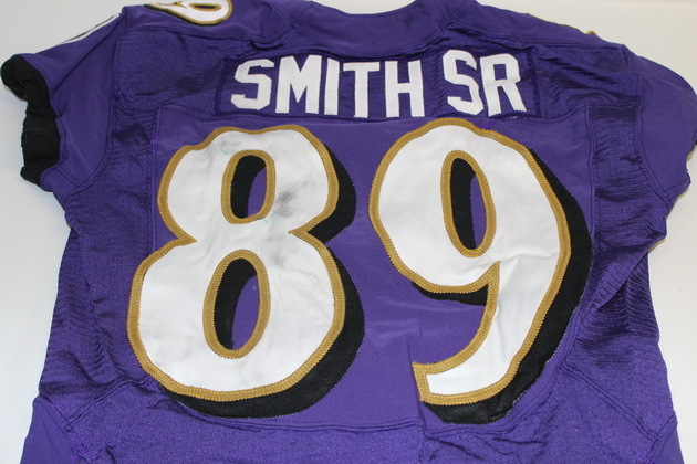 NFL Auction | STEVE SMITH GAME WORN RAVENS JERSEY (NOVEMBER 9, 2014)