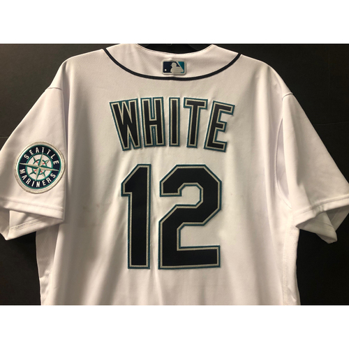 Photo of Game Used Jersey - Evan White 8/1/2020 (OAK @ SEA)