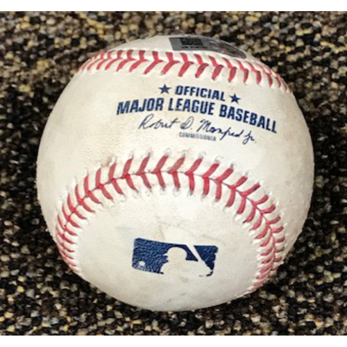 Photo of 8/2/20 Game-Used Baseball, Dodgers at D-backs: Clayton Kershaw vs. David Peralta (Ground Out to Justin Turner) and Ildemaro Vargas (Ball, Swinging Strike, Ball, Foul)