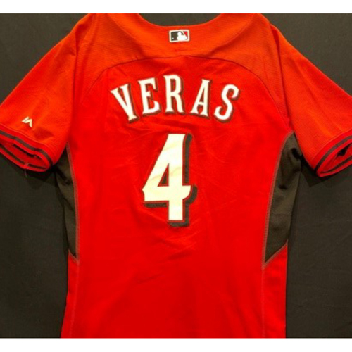 Photo of VERAS -- Authentic Reds Jersey -- $1 Jersey Auction -- $5 Shipping -- Size 44 (Not MLB Authenticated)