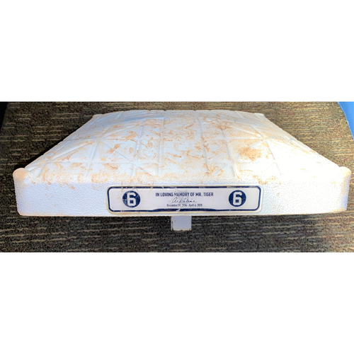 2020 Detroit Tigers Comerica Park Game-Used Base with In Loving Memory Of Al Kaline Base Jewels (MLB AUTHENTICATED)