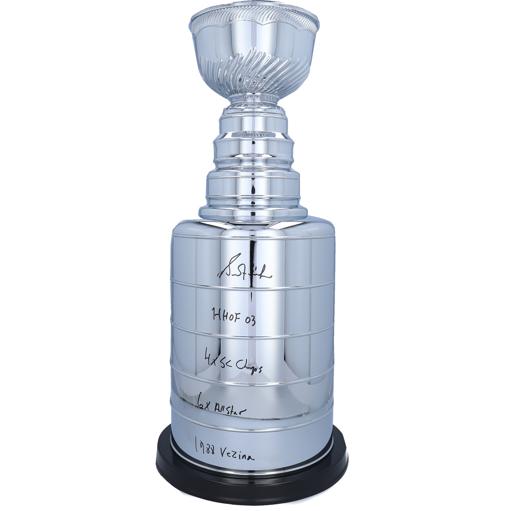 Grant Fuhr Edmonton Oilers Autographed 2' Replica Stanley Cup with Multiple Inscriptions - NHL Auctions Exclusive