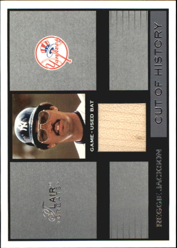 Photo of 2003 Flair Greats Cut of History Game Used #10 Reggie Jackson Bat