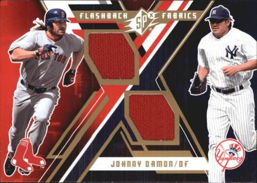 Photo of 2009 SPx Flashback Fabrics #FFDA Johnny Damon