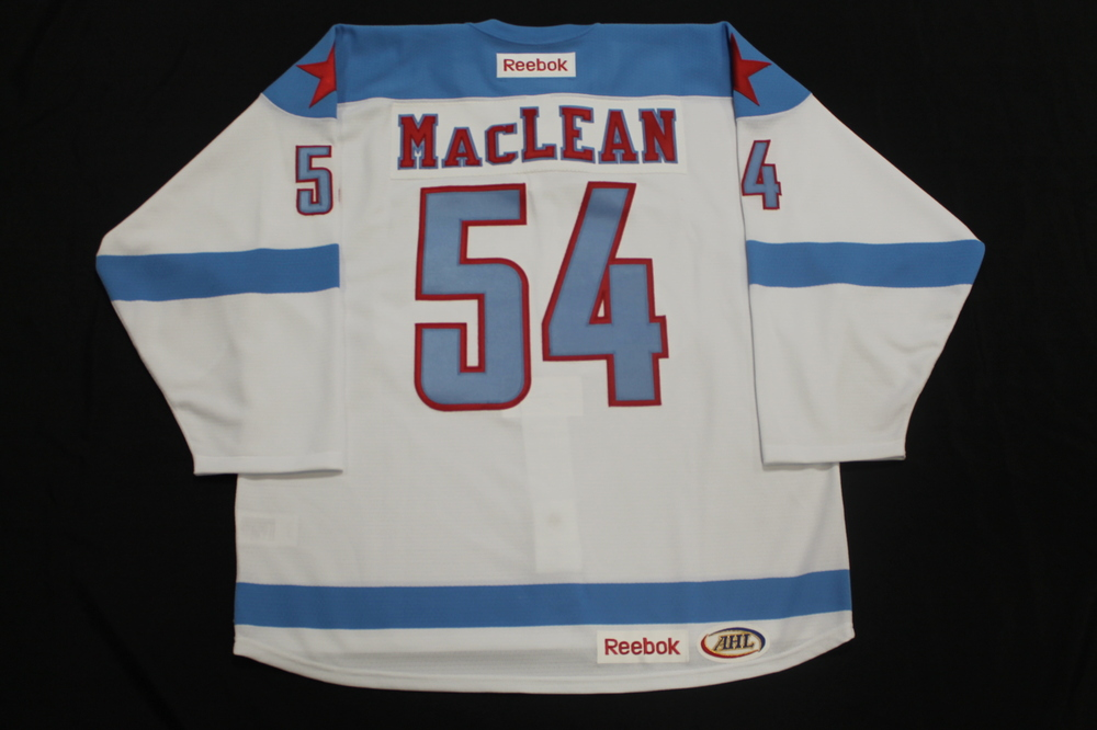 Brandon MacLean Game Issued Rochester Americans Men's Health Night Jersey