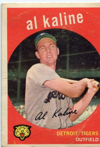 Photo of 1959 Topps #360 Al Kaline -- Hall of Famer