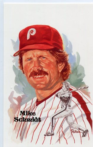 Photo of 1980-02 Perez-Steele Hall of Fame Postcards #223 Mike Schmidt -- HOF Class of 1995