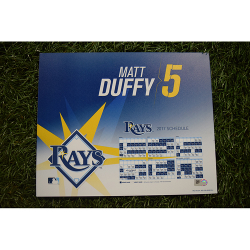 2017 Team-Issued Locker Tag - Matt Duffy