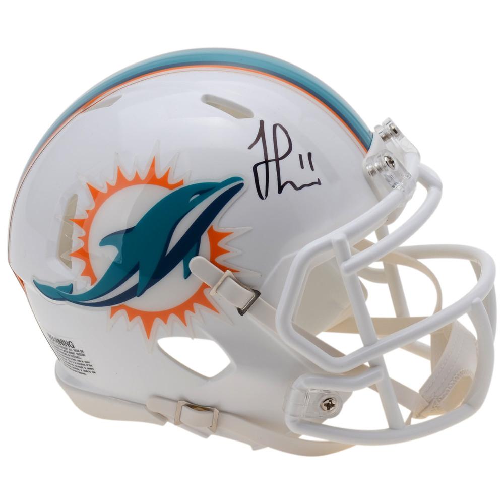 Jonathan Huberdeau Florida Panthers Autographed Miami Dolphins Mini-Helmet
