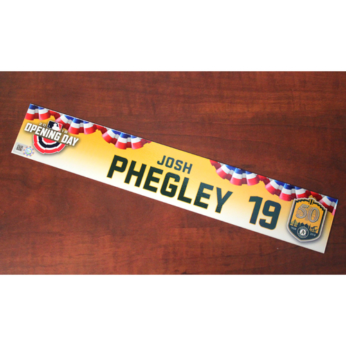 Photo of Josh Phegley Team-Issued Opening Day 2018 Locker Nameplate