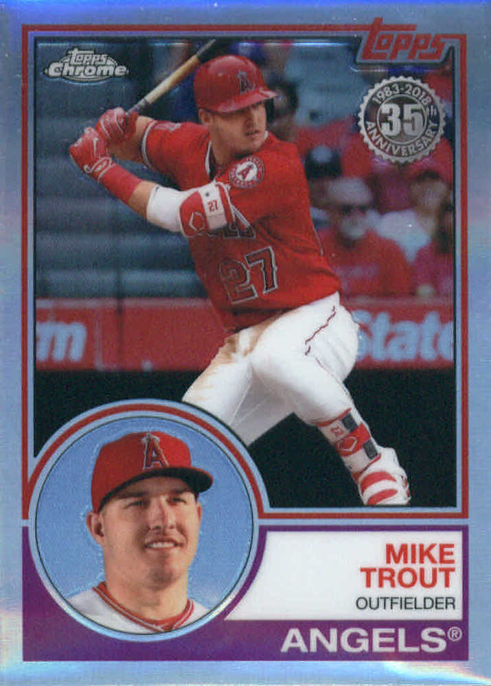 2018 Topps Chrome '83 Topps #83T12 Mike Trout