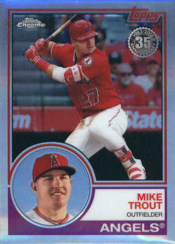 Photo of 2018 Topps Chrome '83 Topps #83T12 Mike Trout