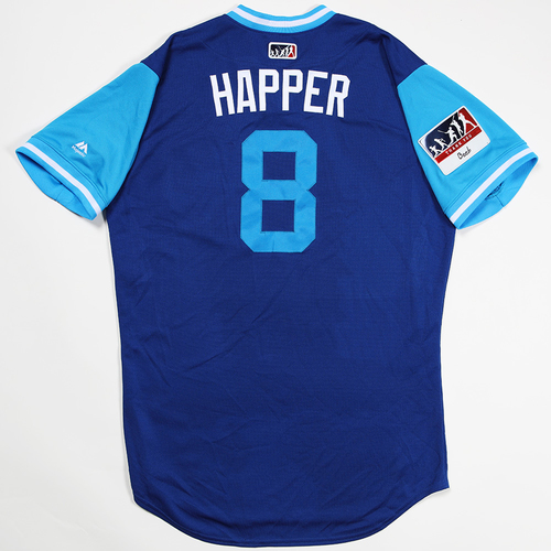 """Photo of Ian """"Happer"""" Happ Chicago Cubs Game-Used 2018 Players' Weekend Jersey"""