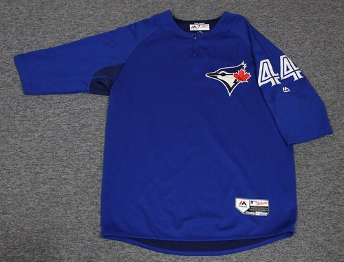 Photo of Authenticated Team Issued Batting Practice Jersey - #44 Mike Hauschild. Size L.