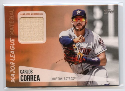 Photo of 2019 Topps Major League Materials #MLMCC Carlos Correa