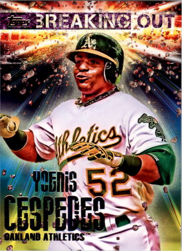 Photo of 2014 Topps Opening Day Breaking Out #BO6 Yoenis Cespedes
