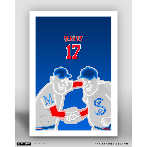 Photo of Minimalist Target Field Jose Berrios Player Series Art Print by S. Preston - Limited Edition