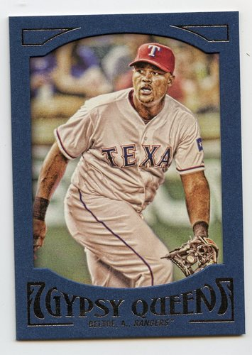 Photo of 2016 Topps Gypsy Queen Framed Blue #86 Adrian Beltre