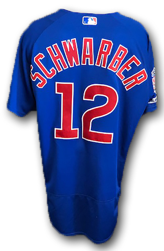 Photo of 12 Days of Auctions: Day 10 -- Kyle Schwarber Game-Used Jersey -- Cubs at Cardinals -- 9/29/19 -- Size 46