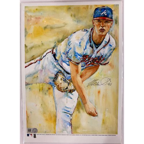 Photo of Mike Soroka Autographed Richard Sullivan Art 7x10 Print