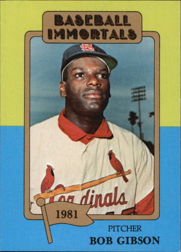Photo of 1980-87 SSPC HOF #174 Bob Gibson