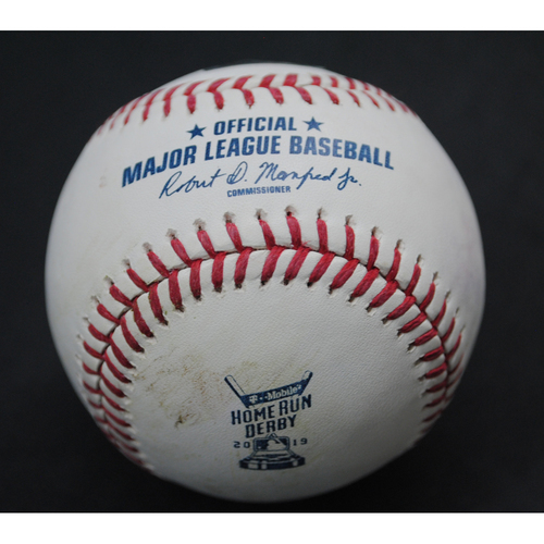 Photo of 2019 Home Run Derby (07/08/19) - Game-Used Baseball - Ronald Acuna (Atlanta Braves) - Round 1, Out