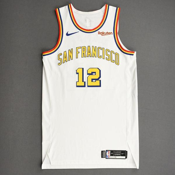 Image of Ky Bowman - Golden State Warriors - Game-Worn Classic Edition - 1962-63 San Francisco Home Jersey - 2019-20 NBA Season