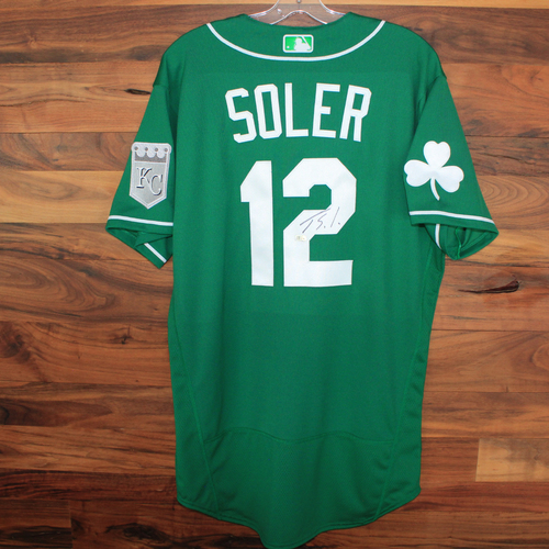 Photo of Autographed St. Patricks Day Jersey: Jorge Soler (Size 44)