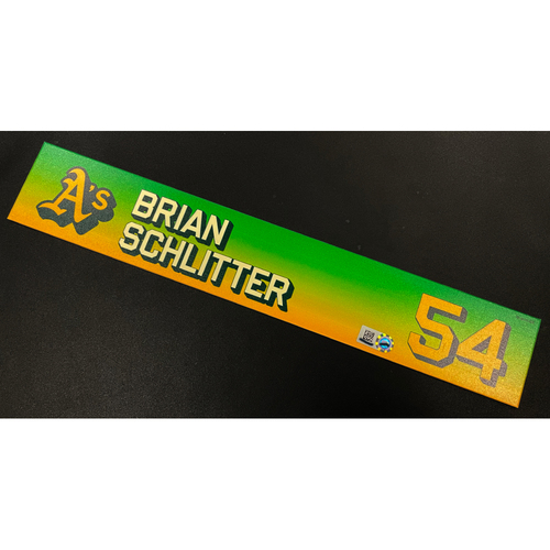 Photo of Team Issued 2020 Locker Nameplate - Brian Schlitter