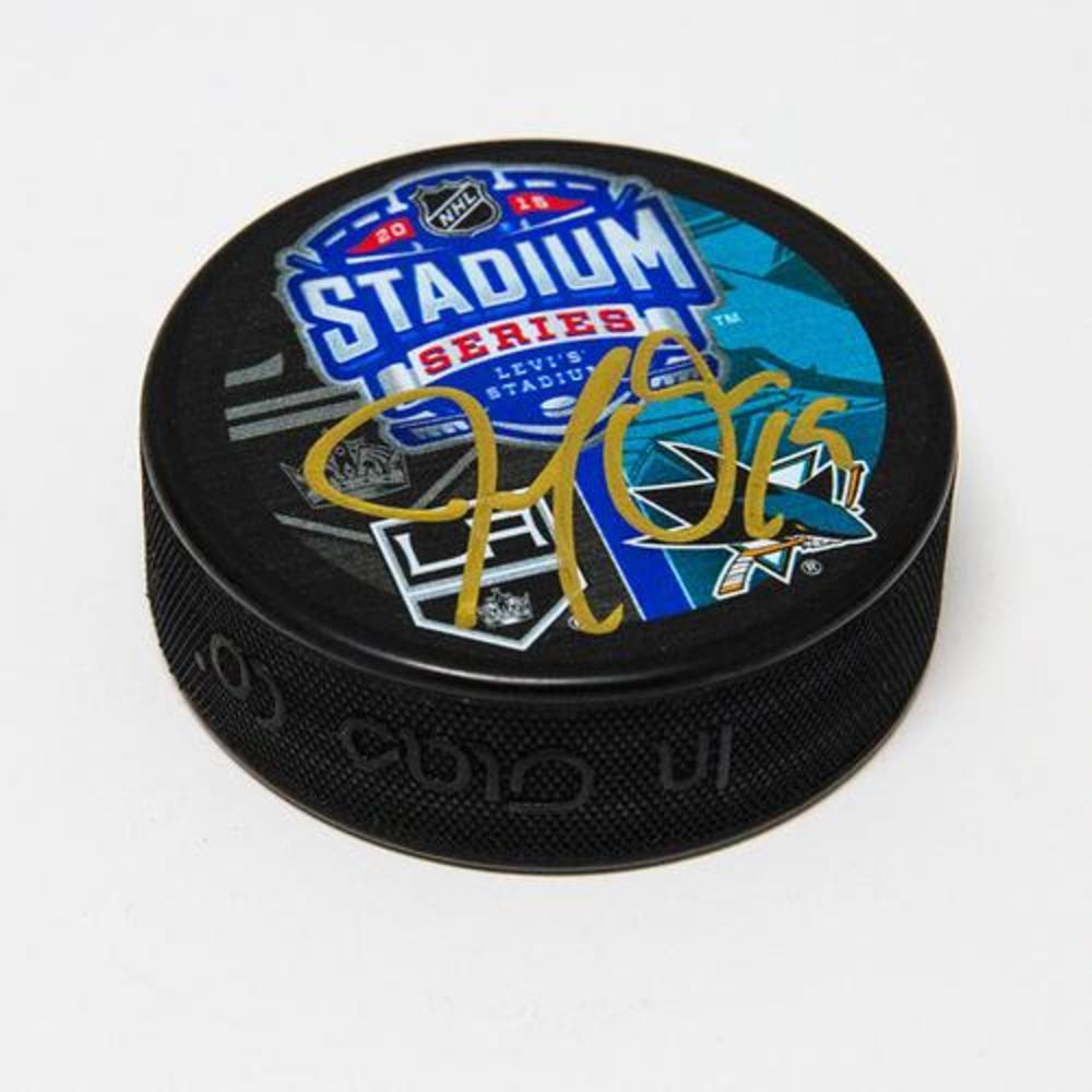 Joe Thornton San Jose Sharks Autographed 2015 Stadium Series Hockey Puck