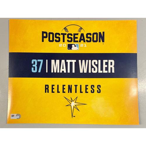 Photo of Game Used ALDS Locker Tag: Matt Wisler - Game 1 & 2 - October 7-8, 2021 v BOS