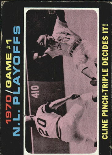 Photo of 1971 Topps #199 NL Playoff Game 1/Ty Cline