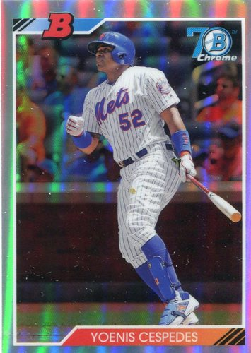 Photo of 2017 Bowman Chrome '92 Bowman Refractors #92BYC Yoenis Cespedes