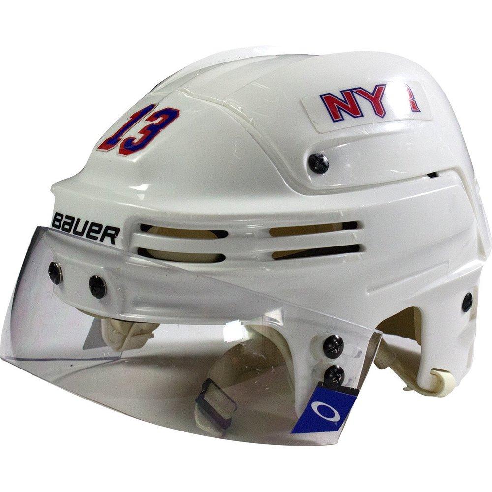 Kevin Hayes New York Rangers 2016-2017 Season Game Used #13 White Helmet w/ 100th Anniversary Sticker