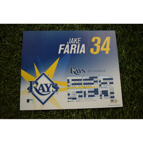 2017 Team-Issued Locker Tag - Jake Faria