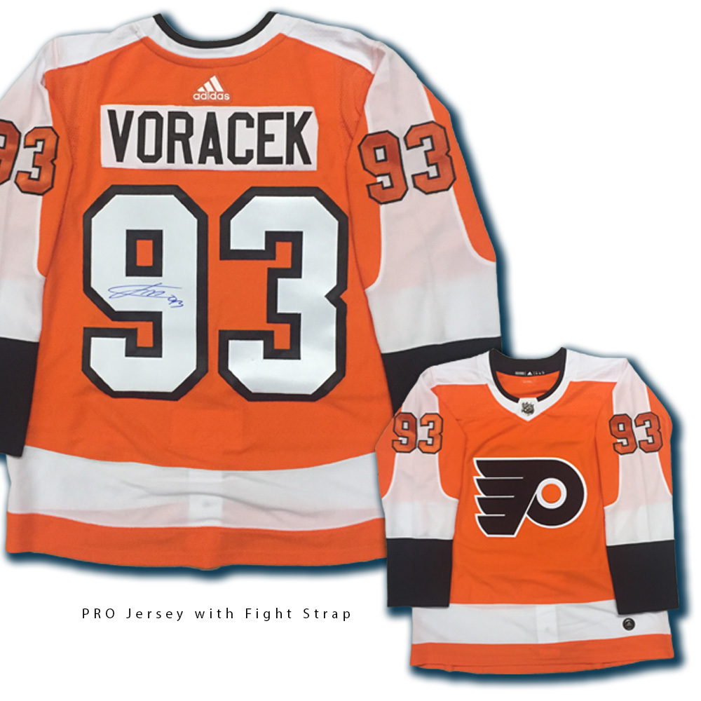 JAKUB VORACEK Signed Philadelphia Flyers Orange Adidas Jersey