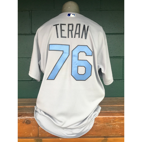 Photo of Cardinals Authentics: Kleininger Teran Game Worn Road Grey Father's Day Jersey
