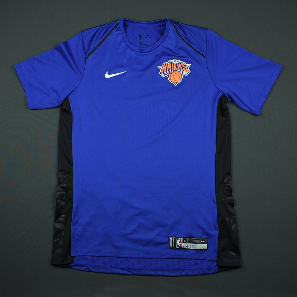 Frank Ntilikina - 2018 Mtn Dew Kickstart Rising Stars - New York Knicks - Warmup-Worn Shooting Shirt