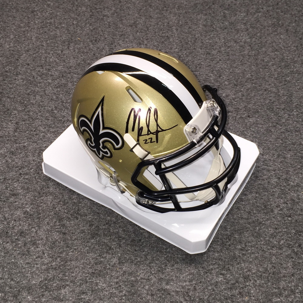 NFL - Saints Mark Ingram signed Saints mini helmet