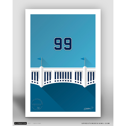 Photo of Minimalist Yankee Stadium Aaron Judge Player Series Art Print by S. Preston - Limited Edition