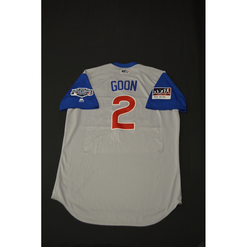 "Photo of 2019 Little League Classic - Game Used Jersey - Mark ""Goon"" Zagunis,  Chicago Cubs at Pittsburgh Pirates - 8/18/2019 (Size - 48)"