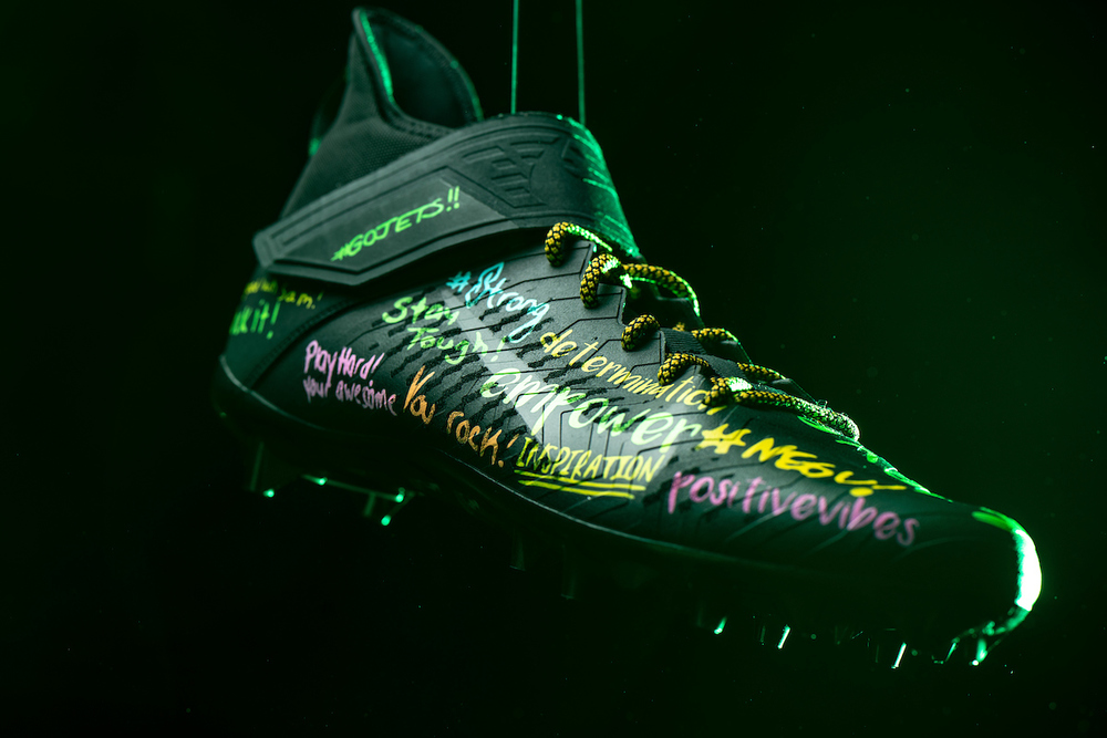 My Cause My Cleats -  Jets Sam Darnold  custom cleats - supporting  Goryeb Children's Hospital