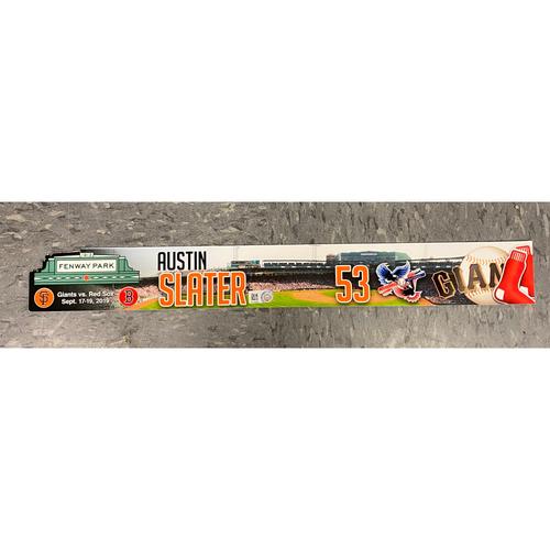 Photo of 2019 Locker Tag - SF @ BOS Special Edition Team-Issued Locker Tag - #53 Austin Slater