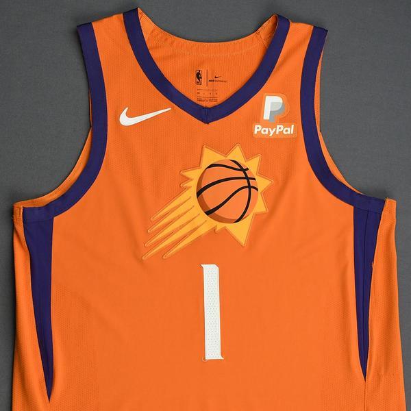 Devin Booker Phoenix Suns Game Worn Statement Edition Jersey 2019 20 Season Nba Auctions