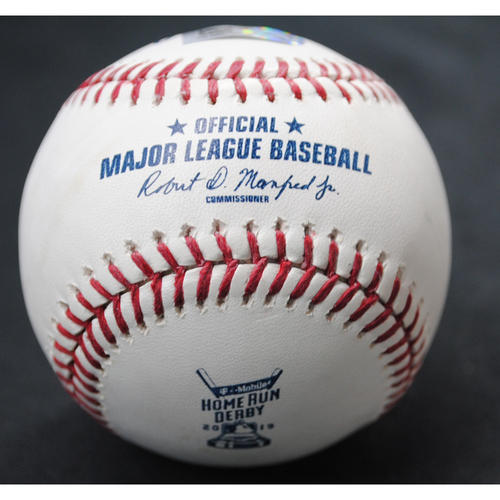 Photo of 2019 Home Run Derby (07/08/19) - Game-Used Baseball - Carlos Santana (Cleveland Indians) - Round 1 - Out