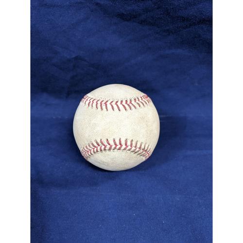 Photo of Game Used Baseball: Pitcher: Hyun-Jin Ryu, Batter: Bryce Harper (RBI Single)- 6-5-2017 vs. WAS