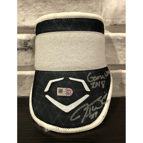 "Photo of Jesse Winker -- *Autographed* Evo Shield -- Inscribed ""Game Used 2018"""